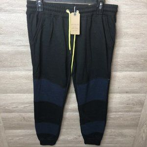Cotton On M Black Moonlight Splice Adele Trackpant